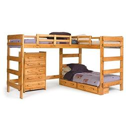 Chelsea Home Furniture 3662008-S L Shaped Loft Bed with Unde