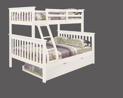 DONCO Bunk Bed Twin over Full Mission Style with Trundle in
