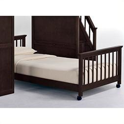 NE Kids School House Lower Stair Loft Bed in Chocolate - Ful