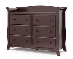 Avalon 6 Drawer Dresser, Espresso