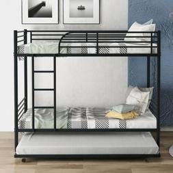 black metal bunk bed twin over twin