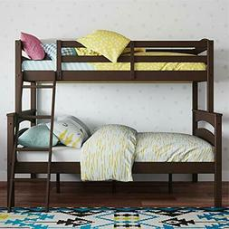 Dorel Living Brady Solid Wood Bunk Beds Twin Over Full with
