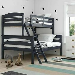 Brand New Dorel Living Brady Bunk Bed, Twin Over Full, Graph