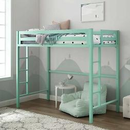 Brand New WE Furniture Premium Twin Metal Loft Bed, Mint