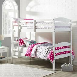 Bunk Bed Twin Over Twin Wood Convertible Bunkbeds Kids Ladde