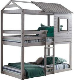 Bunk Beds For Kids Twin Over Loft jr Teens Mid Tree House Wo