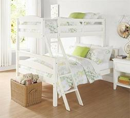 Bunk Beds of Wood For Kids Twin Over Full Size On Bottom Lad