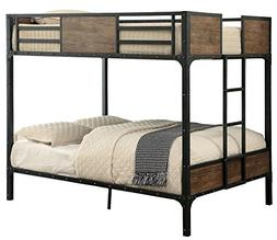 Furniture of America Clapton Full Over Full Metal Bunk Bed