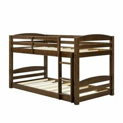 Dorel Living Sierra Twin Over Twin Wooden Bunk Bed with Ladd