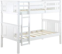 Dorel Living Dylan Twin Bunk Bed - White