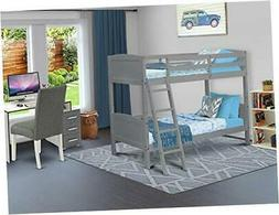 East West Furniture AAYB-06-T Bunk Beds, Gray
