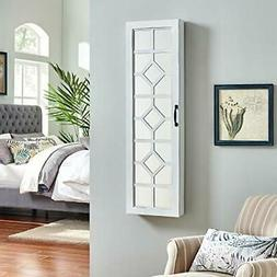 """FirsTime & Co. 81002 White Eloise Jewelry Armoire, 47"""" H"""