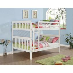 Full over Full Bunk Beds with Optional Storage Drawers or Tw