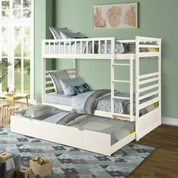 gray twin over twin bunk bed
