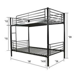 High Quality Home Furniture Twin over Twin Steel Bunk Beds F