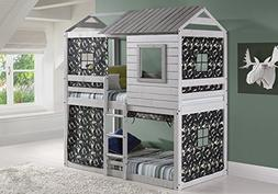 Custom Kids Furniture House Double Bunk Beds with Camouflage