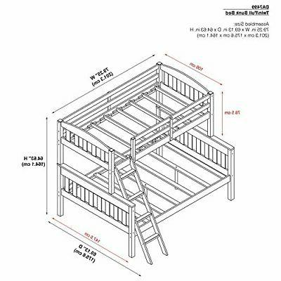 Dorel Wood Beds Twin Over and Guard Ra