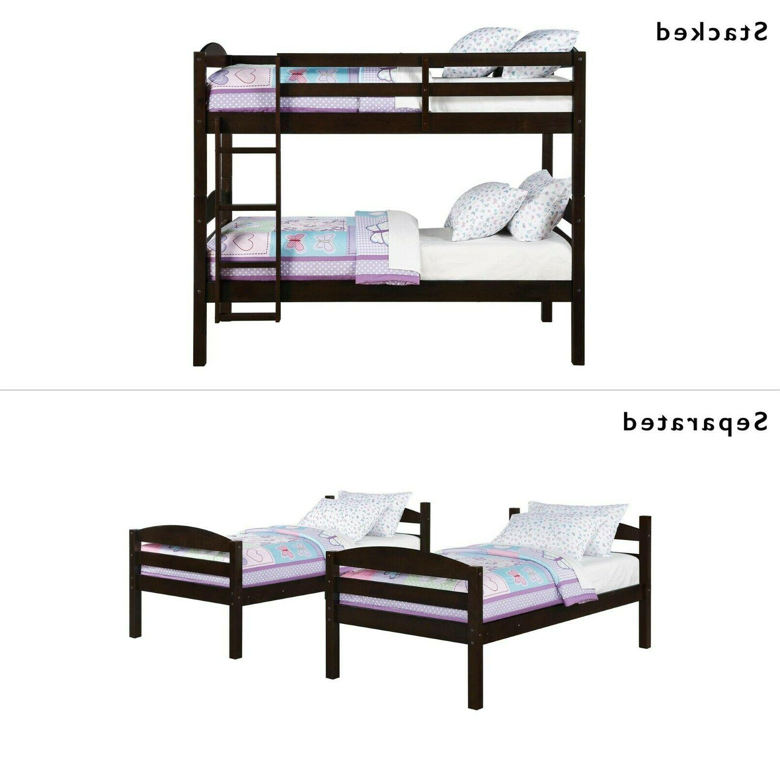 Bunk Kids Twin Over Twin Bunked Bed Frame Bedroom Furniture