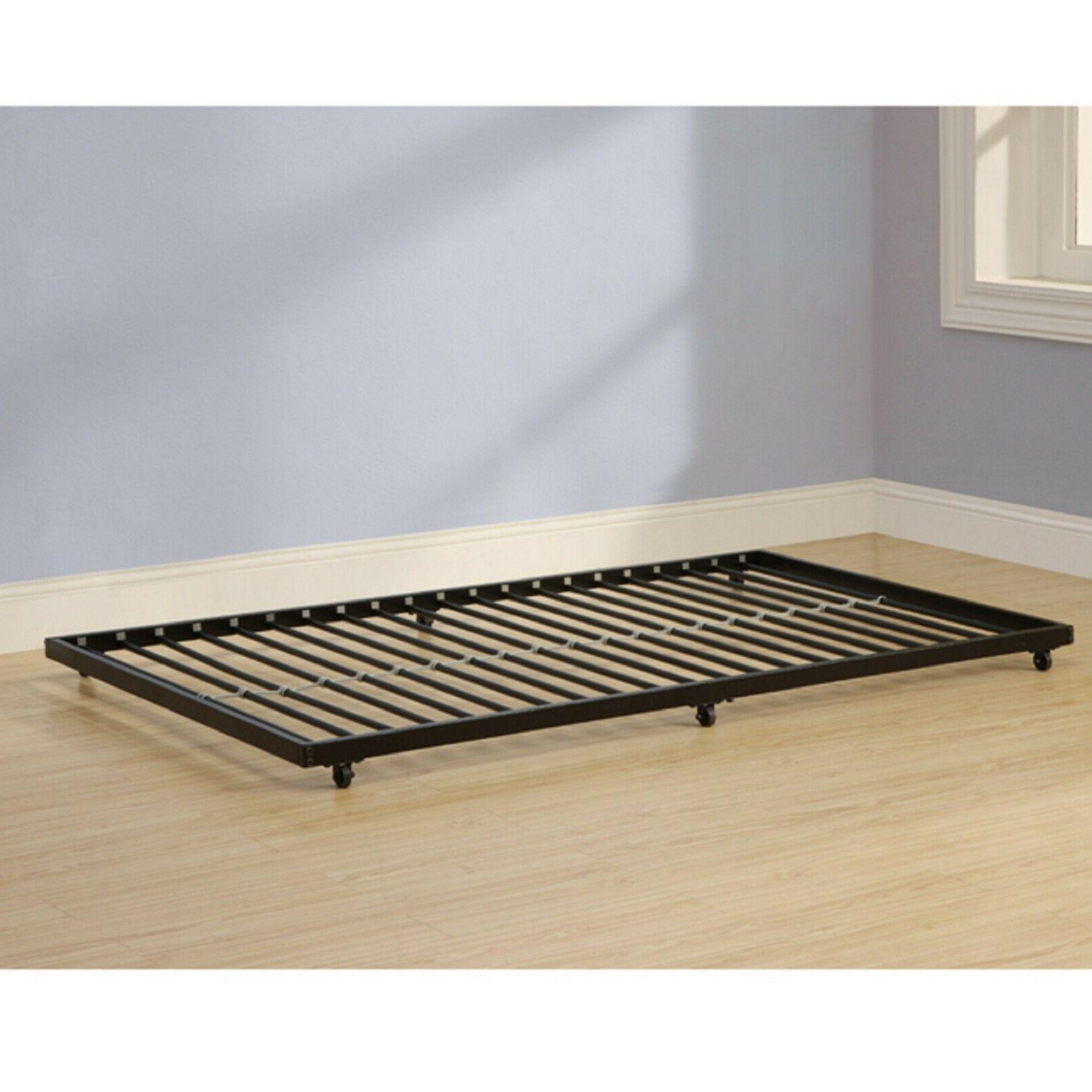 BUNK KIDS Black Metal Trundle Space