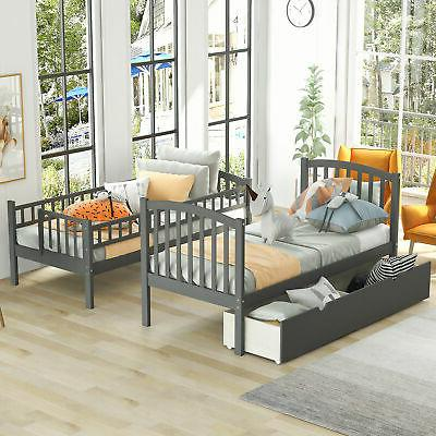 Bunk Beds Twin size Furniture w Floors Drawers