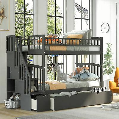 bunk beds twin over twin size kids