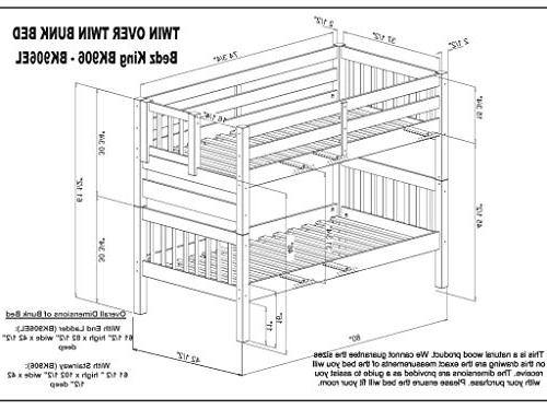 Bedz Beds Twin Twin with Under Bed Drawers,
