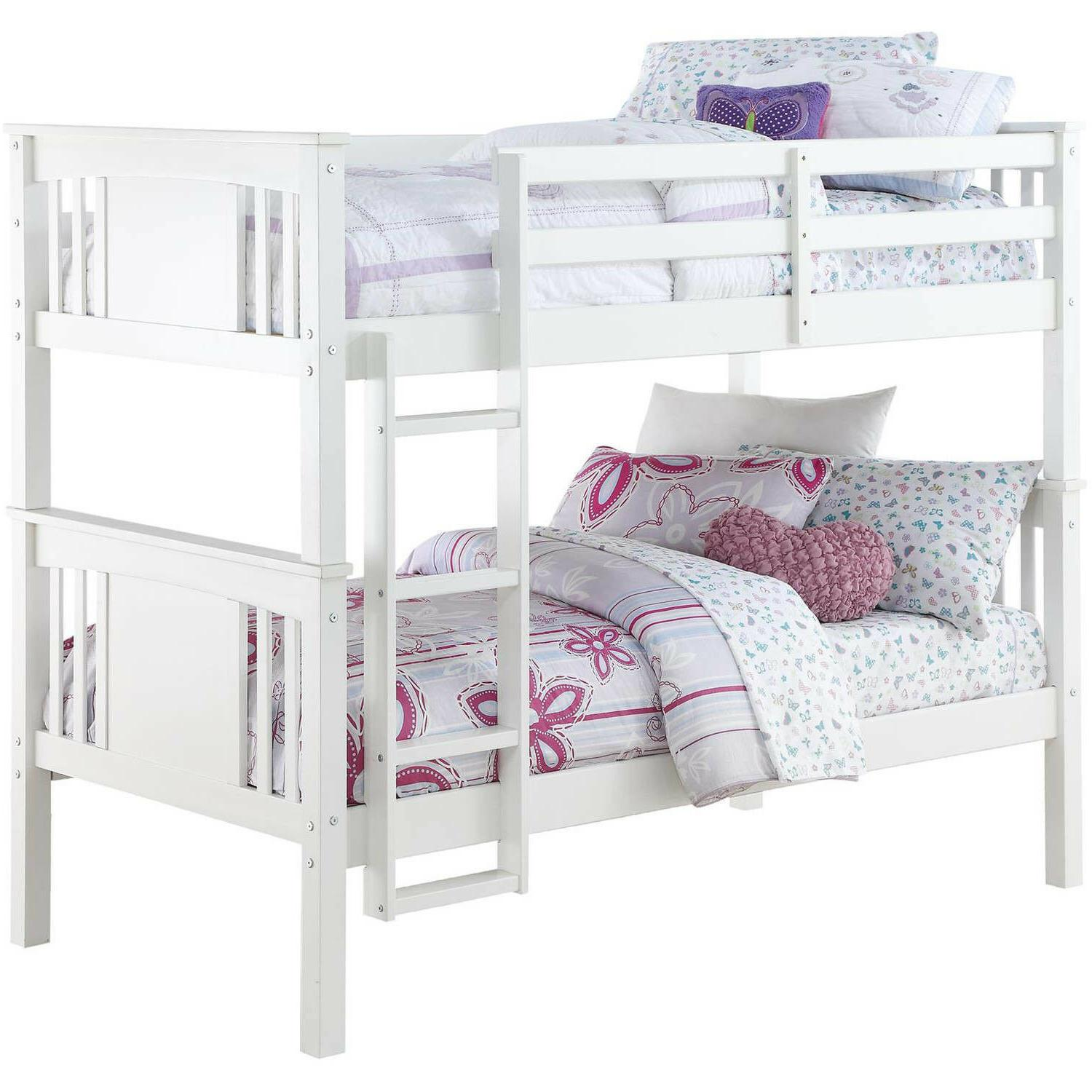 Better Homes and Gardens Flynn Twin Kids Bunk Bed Over Leighton Wood