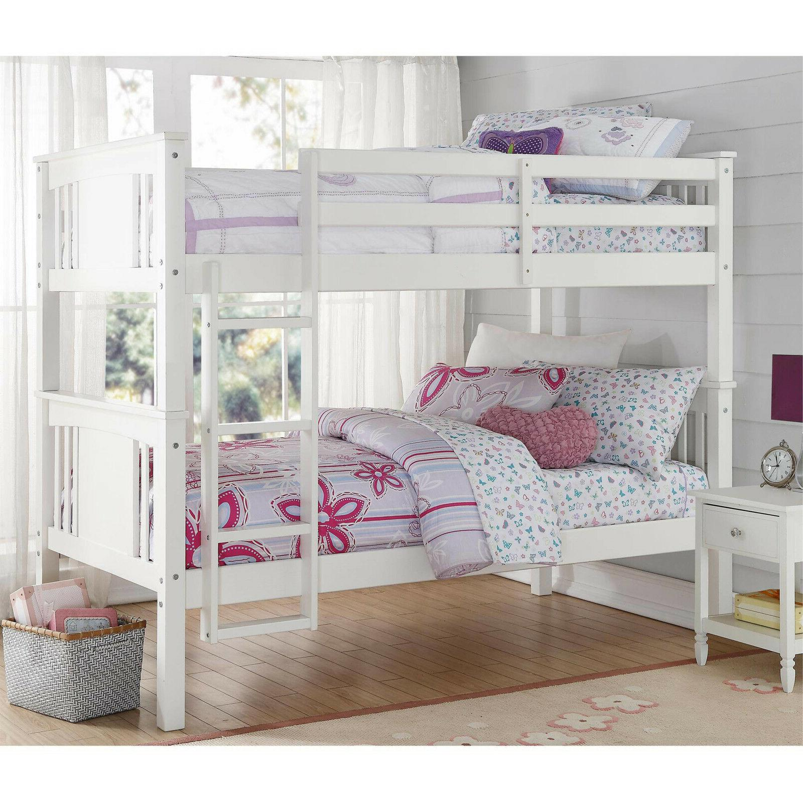 flynn twin kids room bunk bed over