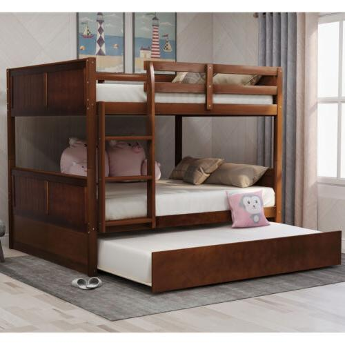 Full Over Bed W/Trundle, Beds W/Ladder Headboard Footboard