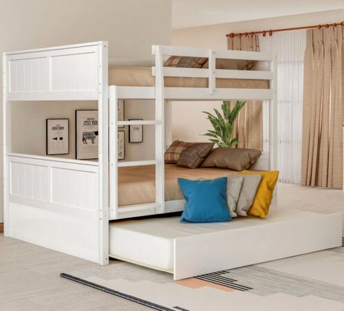 Full Over Full Bed W/Trundle, Beds W/Ladder Headboard