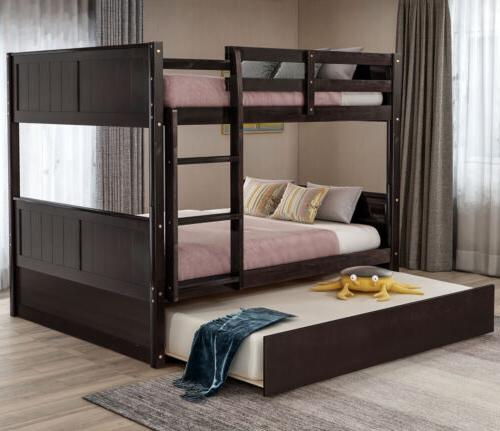 full over full bunk bed w trundle