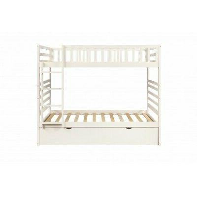 White Over Bunk Bed Solid Wood Bedroom Furniture