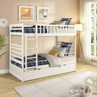 White Twin Solid Bunk Bedroom Furniture