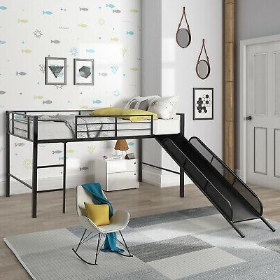 Kids Twin Size Bed Child Bedroom Furniture Area