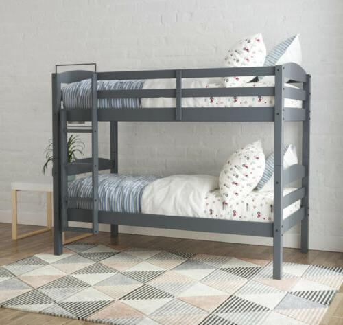 leighton wood twin over twin bunk bed