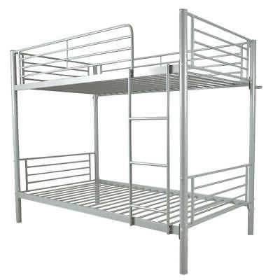 metal bunk beds frame over twin ladder