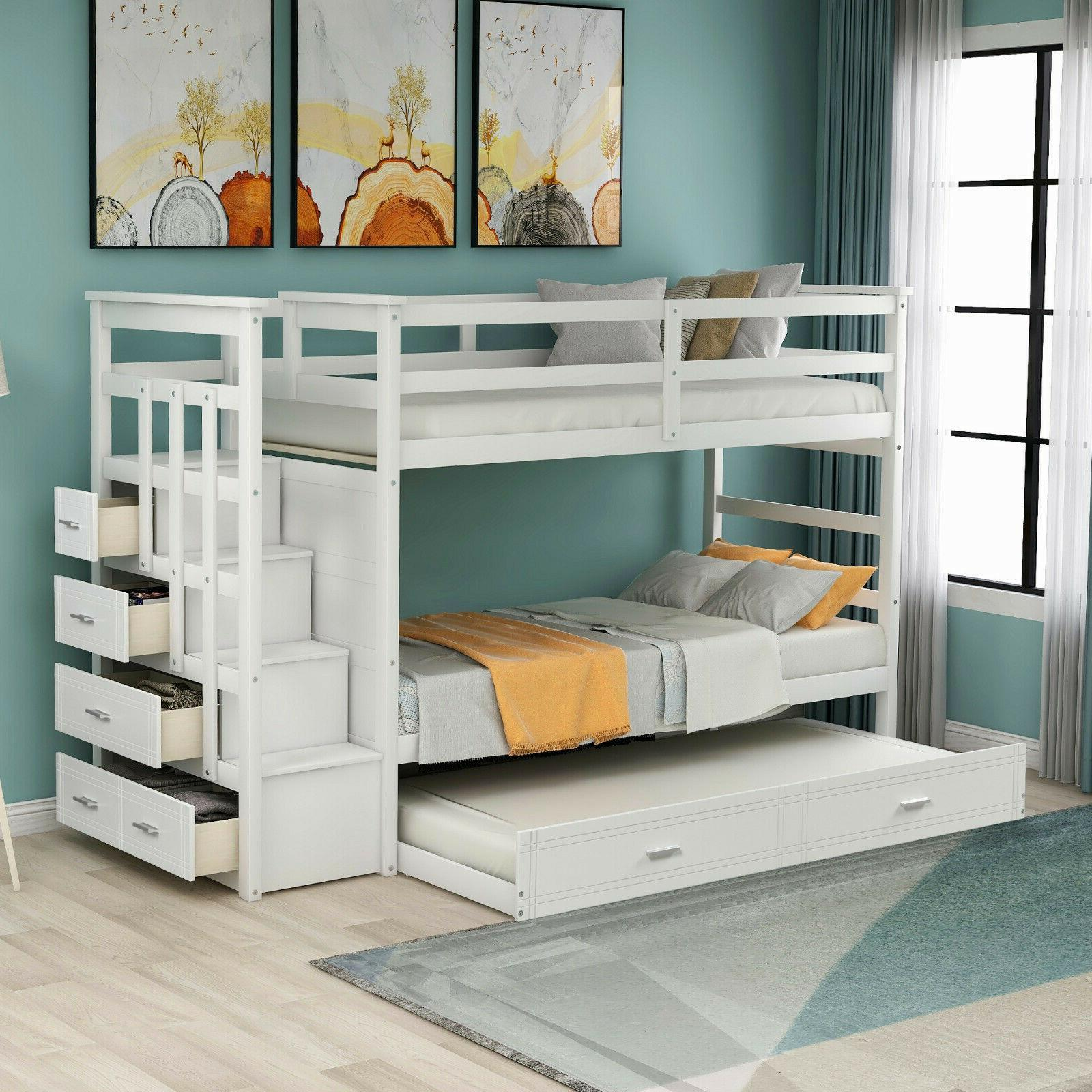 Solid Bunk Bed, Hardwood Twin Over Bunk and