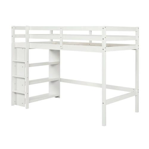Solid Wood Twin Bed Wooden Storage