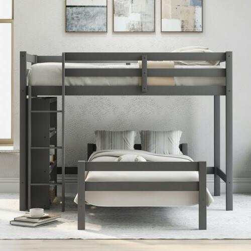 Solid Twin Wooden with Storage US