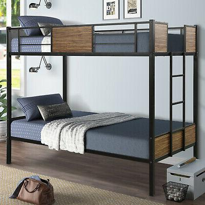 Bunk Beds Twin Over Full/Twin Metal Bed Student Loft Bed Fra