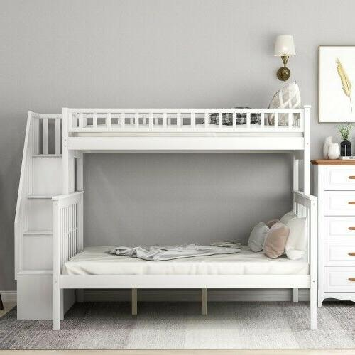 Twin over full bunk bed shelves,
