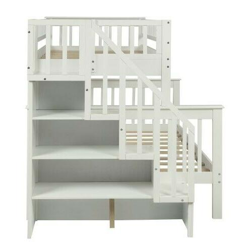 Twin full bed with white