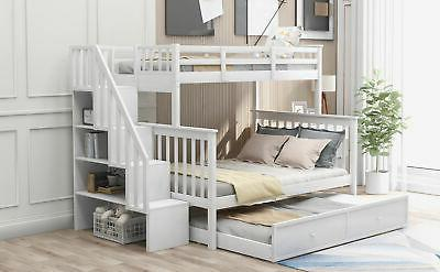 Gray Over Bunk Beds Twin Storage Bed Wood