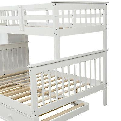 Gray Over Full Bunk Beds Loft Twin Storage Wood