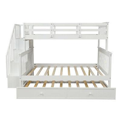 Gray Twin Full Bunk Beds Wood Bed Bedding