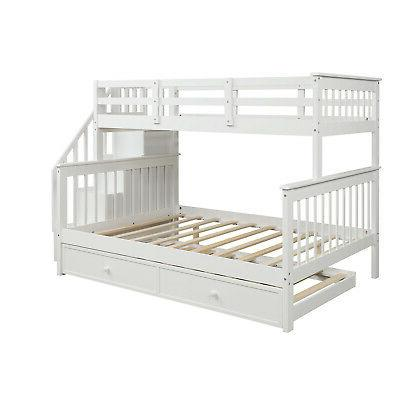Gray Twin Bunk Beds Twin Wood Bed