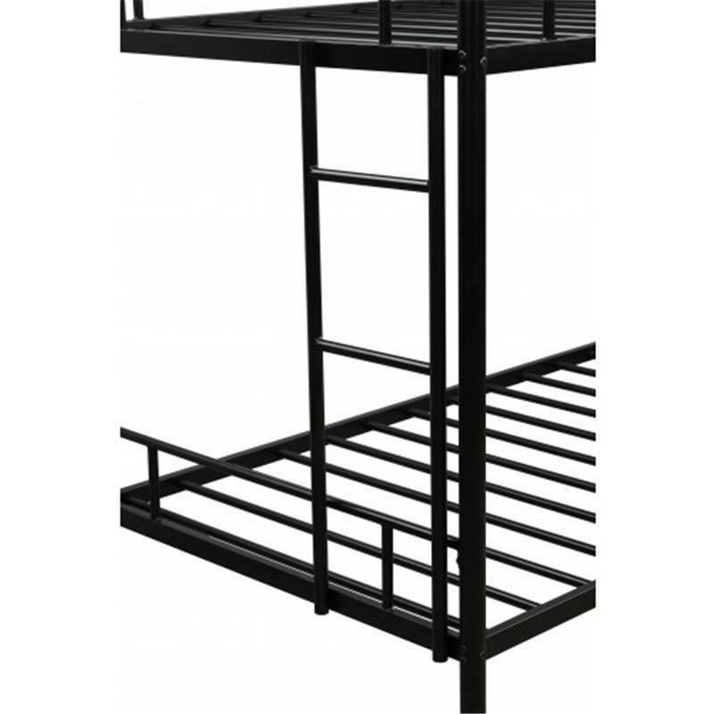 Twin over Metal Bunk Bed W/ Two-side Boy&Girl @cy