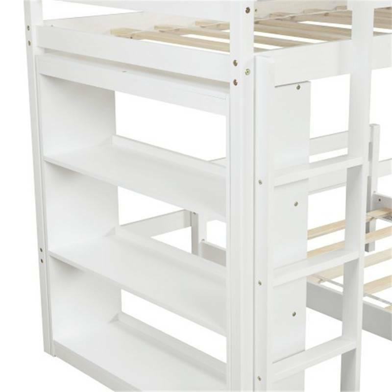 Twin Bed Shelves White, US Popular