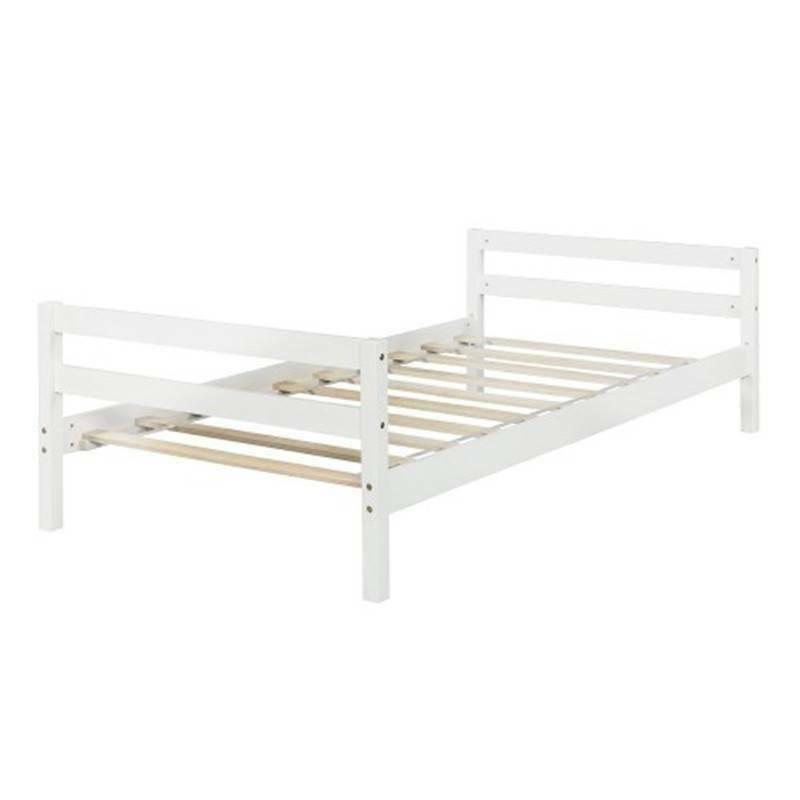 Twin over Twin Bed with White, With Ladder Safety US