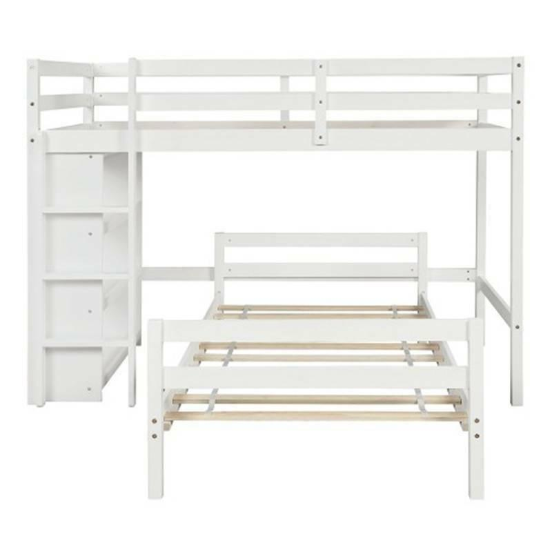 Twin Twin Bed with White, With US